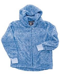 Live Oak  Cardigan Hood Fleece  S Blue