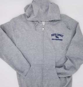 Luba Designs New Hampshire Full-Zip Hoodie Large Heather Grey