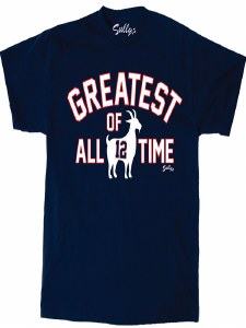 Sully's Tees Greatest of All Time T-Shirt Large Navy