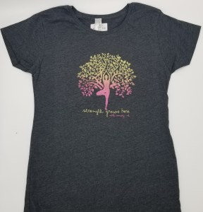 Duck Co. Growing Strength Women's S/S Tee Large Heather Charcoal