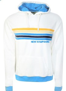 Brew City Happy Stripe Hoody S White