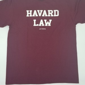 LA Imprints Havard Law S/S Tee Large Maroon