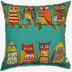 Creative Home Furnishings Hoot Pillow 17x17 Opal