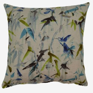 Creative Home Furnishings Hummingbird Pillow 17x17 Twilight