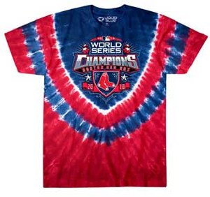Liquid Blue Red Sox 2018 World Series Champions T-Shirt Large Tye Dye
