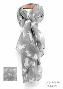 Joy Susan Moose Scarf 90x180cm Light Grey