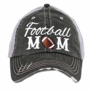 KATYDID Football Mom Trucker Hat One Size Grey