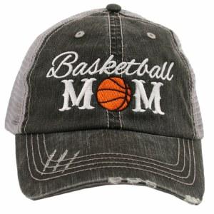 KATYDID Basketball Mom Trucker Hat One Size Grey