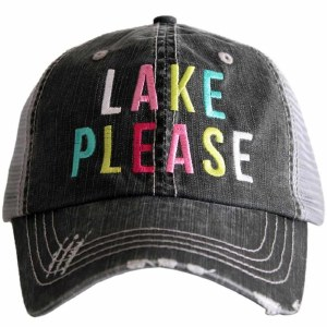 KATYDID Lake Please Trucker Hat One Size Grey