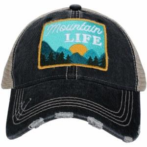 KATYDID Mountain Life Patch Trucker Hat One Size Grey