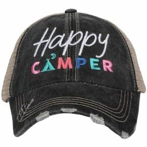 KATYDID Happy Camper Trucker Hat One Size Grey