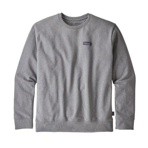 Patagonia Men's P 6 Label Uprisal Crew Sweatshirt Large Gravel Heather
