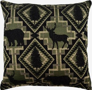 Creative Home Furnishings Larsmont Pillow 17x17 Pine