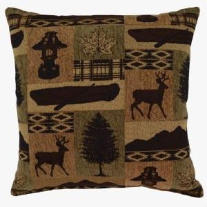 Creative Home Furnishings Medora Pillow 17x17 Evergreen