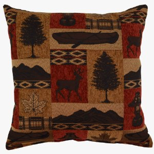 Creative Home Furnishings Medora Pillow 17x17 Redstone