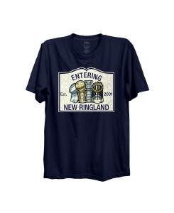 The Boston Sports Apparel Entering New Ringland T-Shirt Small Navy