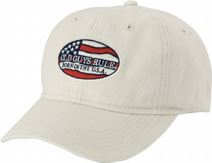 Old Guys Rule Born In The USA Cap One Size Stone