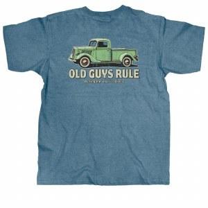 Old Guys Rule Classic Truck S/S Tee XX-Large Heather Indigo