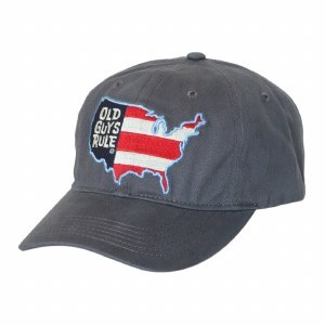Old Guys Rule American Map Cap One Size Charcoal