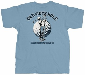 Old Guys Rule It Takes Balls S/S Tee M Blue