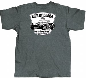Old Guys Rule Shelby Cobra 98 S/S T L Dark Heather