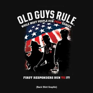 Old Guys Rule First Responder S/S Tee M Black