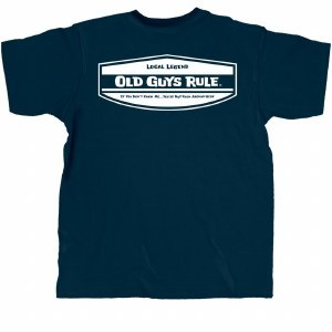 Old Guys Rule Local Legend S/S Tee Large Navy