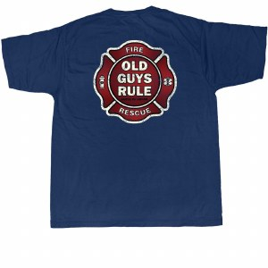 Old Guys Rule Badge of Honor S/S Tee Large Navy