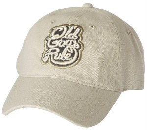 Old Guys Rule Getting Better All The Time Cap One Size Stone