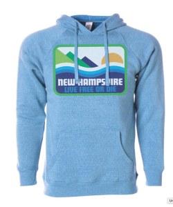 Woods & Sea Pata-New Hampshire Hoodie S Heather Pacific