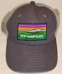 Royal Resortwear New Hampshire Color Mountains Trucker Hat OS Blue