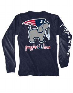 MD-Brand Mascot Pup Adult L/S Tee S Navy
