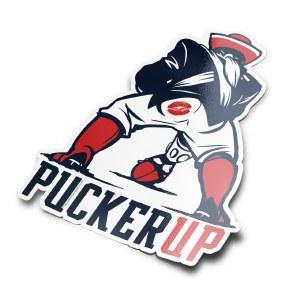 The Boston Sports Apparel Pucker Up Sticker N/A N/A