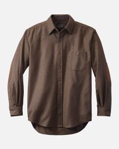 Pendleton Solid Trail Shirt Medium Brown Mix
