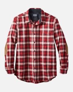 Pendleton L/S Trail Shirt W/Elbow Patch XX-Large Red/Slate Plaid