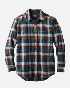 Pendleton Lodge Shirt X-Large Brown/Marine Blue Check