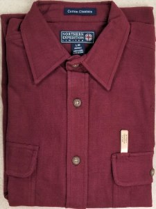 Northern Expedition Yosemite Heather Chamois Shirt Medium Dark Burgandy