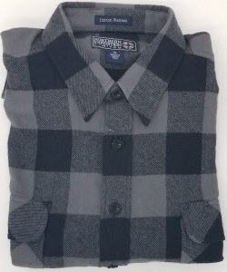 Northern Expedition Outback Brawney Flannel Shirt Medium Charcoal/Black Plaid