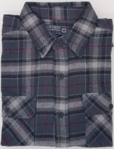 Northern Expedition Outback Brawney Flannel Shirt Medium Grey/Red Plaid