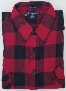 Northern Expedition Outback Brawney Flannel Shirt Medium Red/Black Buffalo Plaid