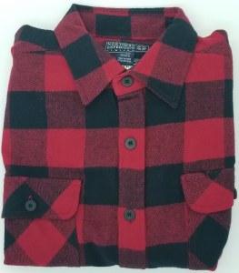 Northern Expedition Outback Brawney Flannel Shirt Medium Red/Black Buffalo Plaid