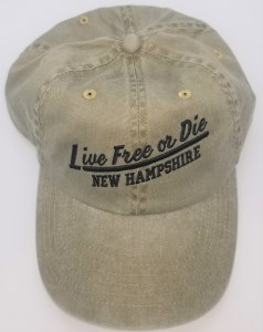 Royal Resortwear New Hampshire Live Free or Die Underline Ball Cap One Size Olive