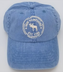 Royal Resortwear Moose Broken Circle Ball Cap One Size Blue