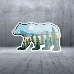 Sticker Pack Mountain Hand - Bear Decal Small