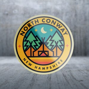 Sticker Pack Camping - Triple Tent Decal Small