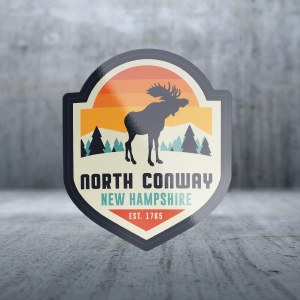 Sticker Pack Mountain Badge - Moose Decal Small