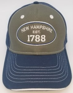 Royal Resortwear New Hampshire Established 1788 Ball Cap One Size Navy