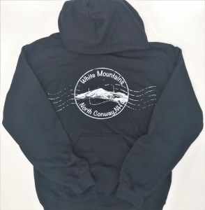 Luba Designs Stamp North Conway, New Hampshire Hoodie L Black