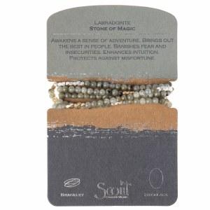 Scout Currated Wears Stone Wrap Bracelet/Necklace STONE WRAP  Labradorite