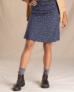 Toad & Co  Chaka Skirt XS True Navy Painter's Floral